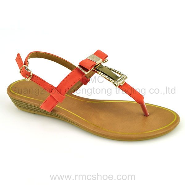 bow sandal PU shoes for women 2013
