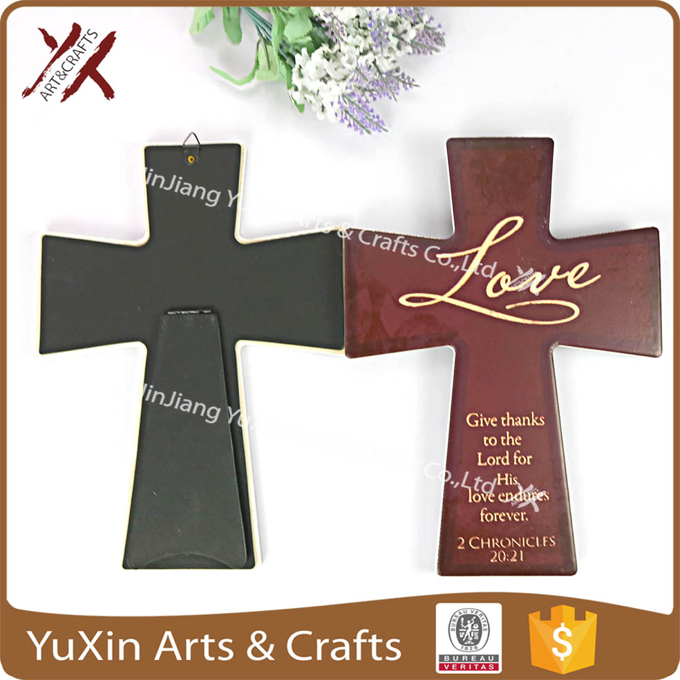 Ceramic decoration the cross shape gift of religious belief 100%factory