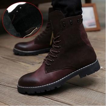 korean fashion men warm winter boots buy men boots