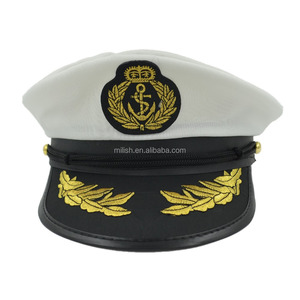 b746ba10a0285 MHH122 Party yacht officer sailor navy costume accessories captain hat cap