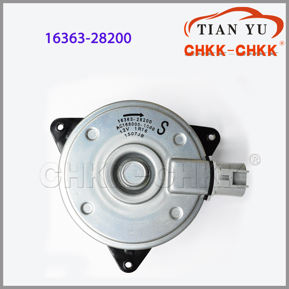 Car Parts OEM 16363-28200 for Toyota Cooling Fan Motor