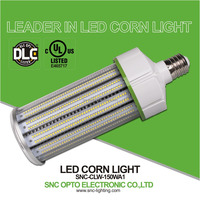 Clear PC cover and IP64 Rating UL DLC approved led corn light e39 150 watt