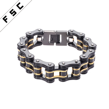 Stainless Steel Motorcycle Bike Chain Magnetic Anium Bracelets For Men