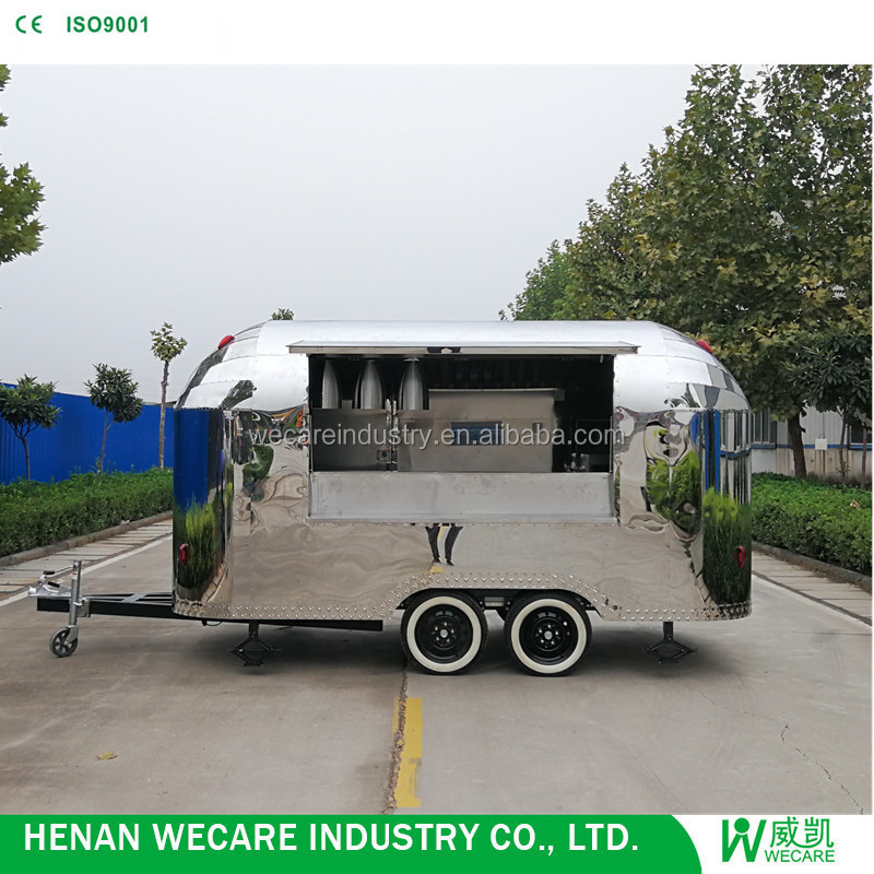 outdoor Stainless Steel hot dog Vending truck mobile fast food van