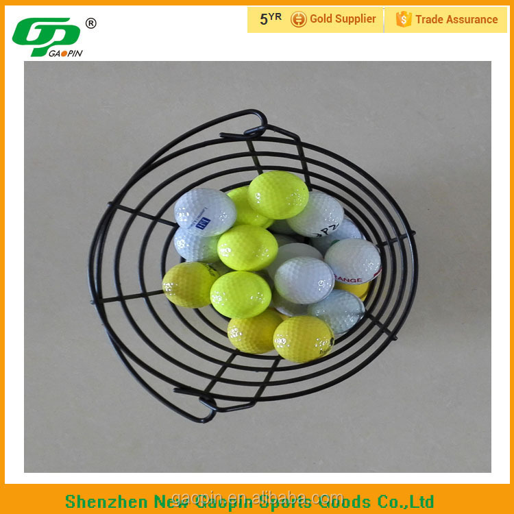 portable metal wire basket for golf balls