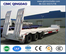 40 ft 60ton 3 axle low bed semi trailer