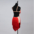 Hot selling economic tassels red ballroom and dance dress latin