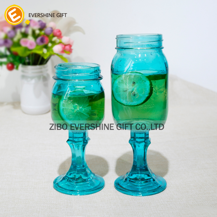 wholesale glass products high quality glass mason jar with base