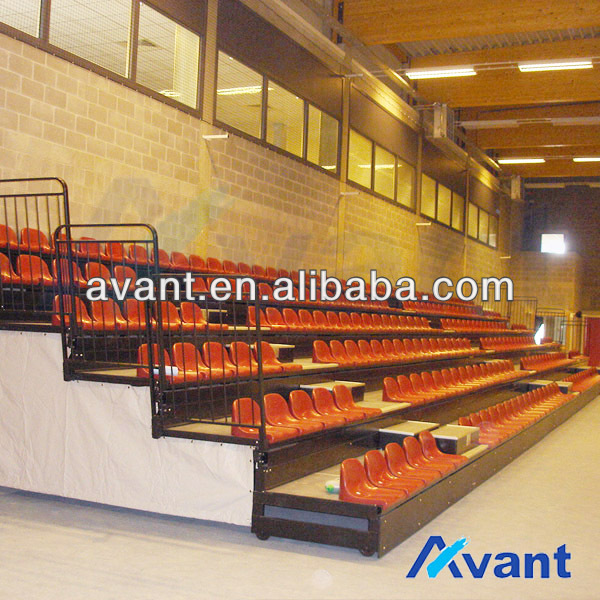 telescopic platform seating,retractable chair,arena retractable bleacher