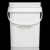 White Color 15 Liter PP Square Bucket With Lids