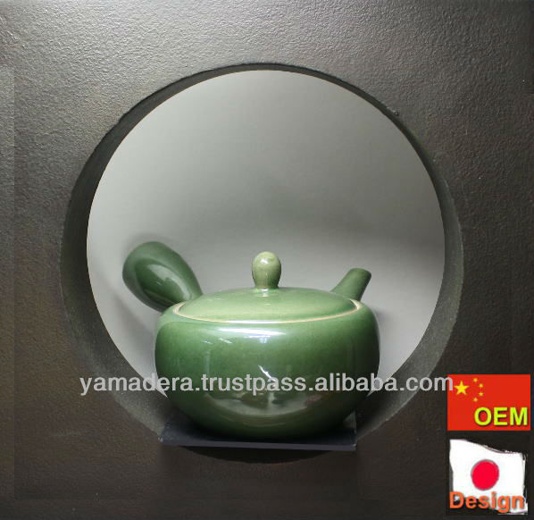 Japanese Style Green Pottery Teapot T-111 For Herbal Tea Drinking ...