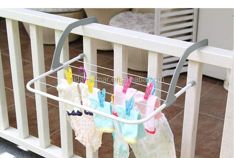 stable quality houseware wall rack folding clothes drying rack