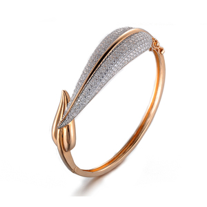 Custom fancy new model 18k gold copper bangles and bracelets gold jewelry for women