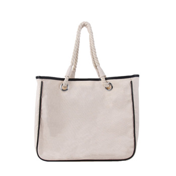 d61c0b38e6625e Wholesale New Arrival Fashion Beach Canvas Monogrammed Tote Bag ...