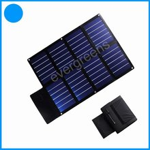 24W folding and flexible amorphous silicon 19v solar laptop charger