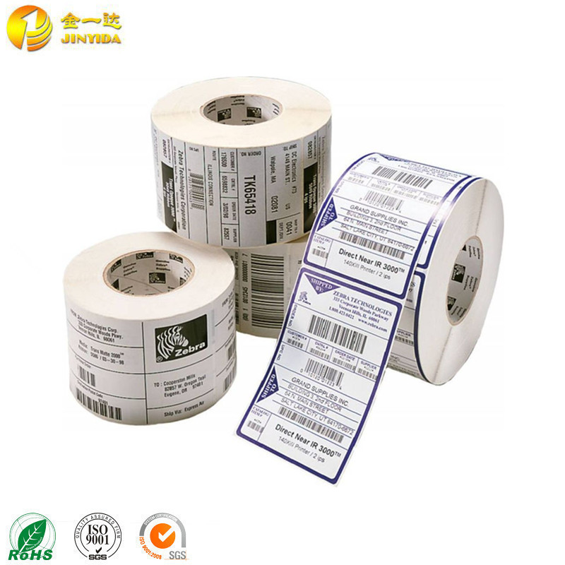 Roll thermal transfer polyester barcode sticker label