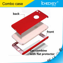 Icheckey metal texture skin-touch PC Combo 2 in 1 design full protective case for iPhone7