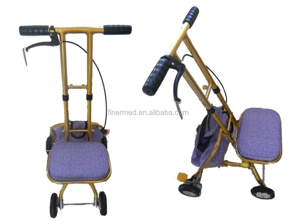 lightweight rollator walker with seat