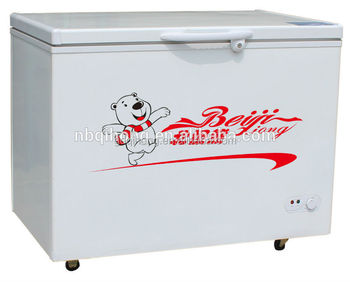 Bd-358l Single Door Deep Freezer Compressor Freezer 358l Ghana Energy Label  - Buy Deep Freezer,Ghana Energy Label Freezer,Single Door Deep Freezer