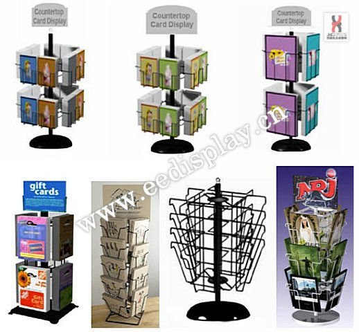 Tabletop Card Spinner Display Rack Countertop Greeting Stand