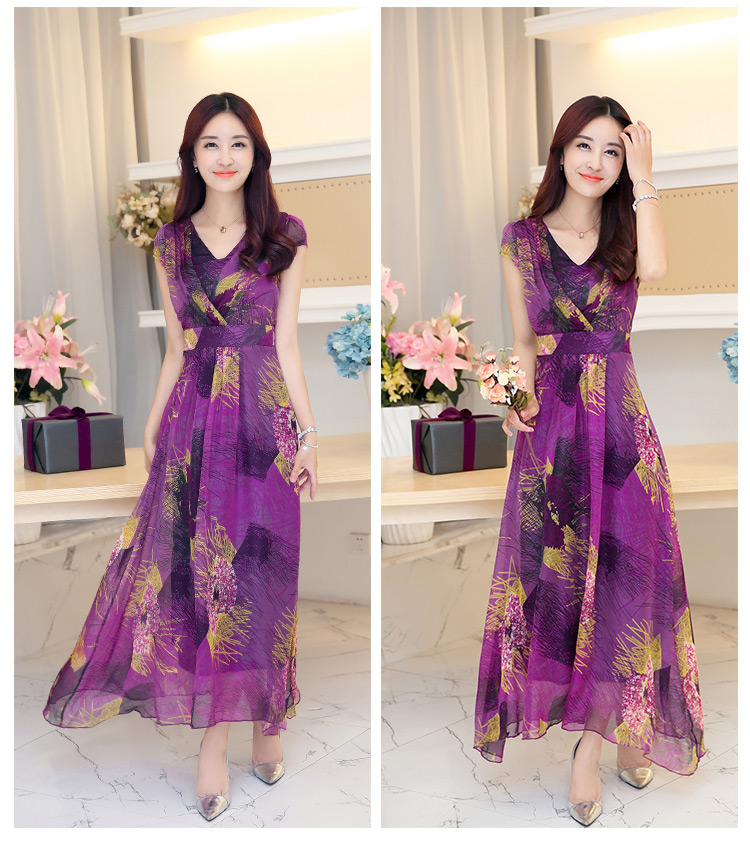 Custom Long Dress Chiffon New Style Soft Printed Dresses,Latest ...