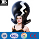 inflatable heads PVC inflatable wigs plastic funny hats toys in party for adults