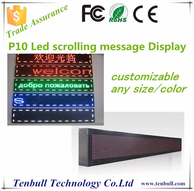 P10 led moving message display board ,led scrolling bar sign,Programme led message board