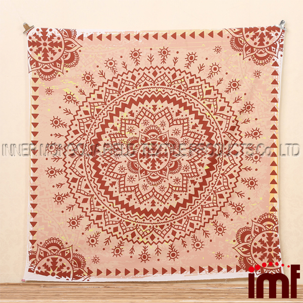 Soft Cotton Tapestry Topped with an allover print we love,Folklorica Medallion Tapestry