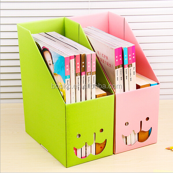 custom popular office file holders/storage box without lid for file