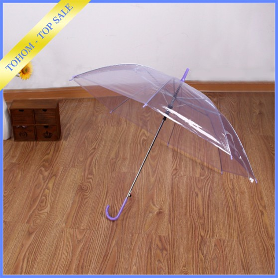 Promotional Logo Printed Folding PVC Clear Umbrella