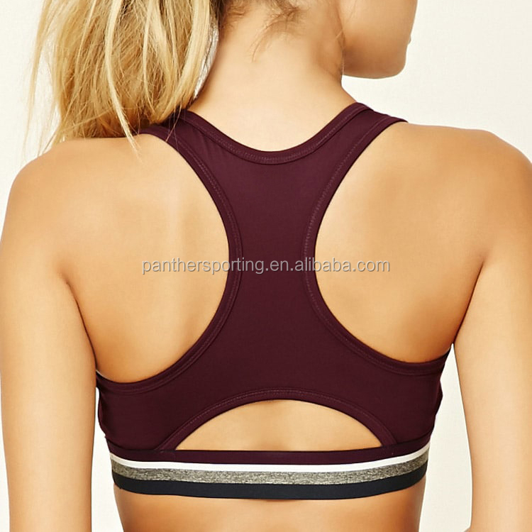 95fde3d651deb 2019 OEM Plus Size Private Label Removable Padded Sports Bra Yoga Fitness  Running Workout Tops Sexy