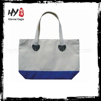 Printing oem classical cotton canvas shopping bag