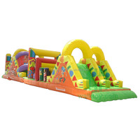 Top Inflatable Structures! Outdoor Inflatable Joust Obstacle Course for Sale, 100%PVC Material