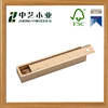 Promotional cheap handmade unfinished natural wooden pencil case with sliding lids