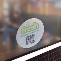 Custom Waterproof Self Adhesive Removable Vinyl Sticker Label Printing For Glass Door