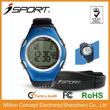 Waterproof heart rate monitor calorie counter with pulse alarm clock CE RoHs FCC tested BSCI factory