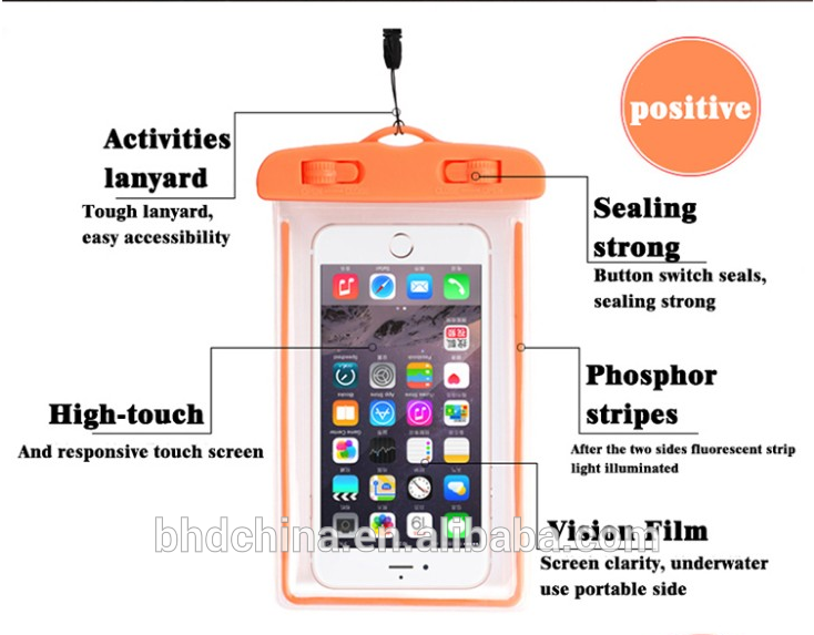 2018new Hot sale For 5.8 Inch Or Below diving bag mobile phone pouch Dry Case Cover Waterproof Bag For Swim