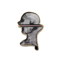 Geometric Enamel Pin Limited Edition Collectible Punk Rock Fashion
