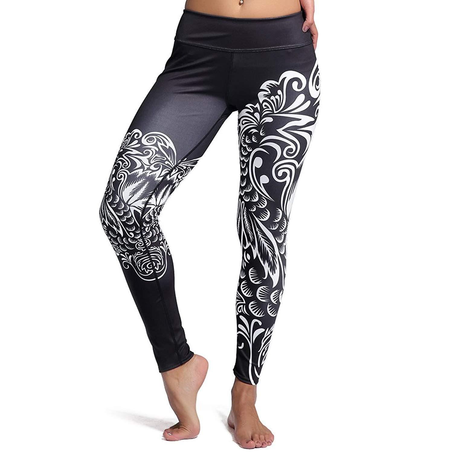 fbb07c2faf2 Get Quotations · mwbay Womens Marble Pattern Colorful Yoga Pants Thick  Knitted Leggings for Gym Fitness Running