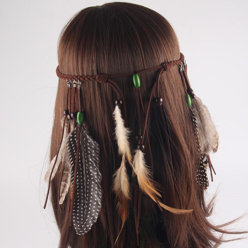 Native American Indian Feather Headband Festival Headdress ...