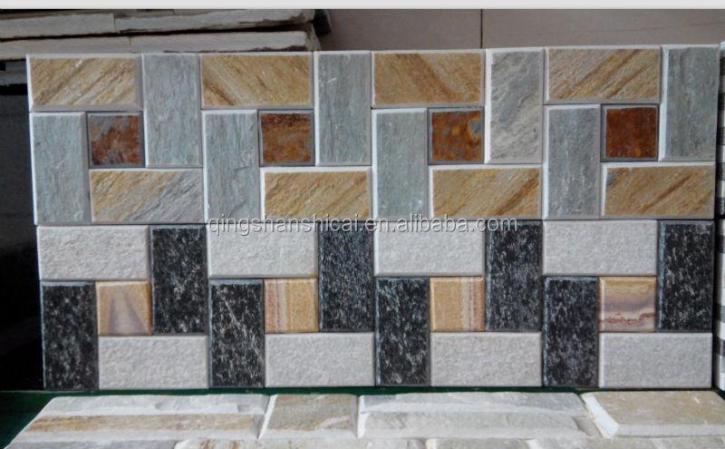 Split Mixed Color Oyster Slate Stack Stone Ledger Tiles Buy Split