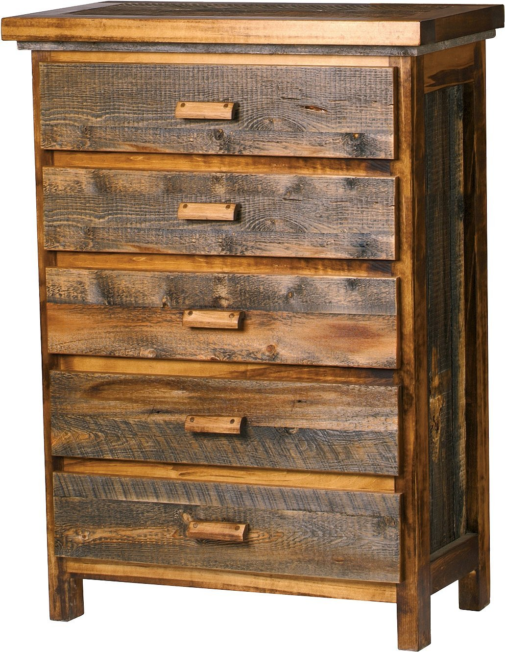 Mountain Woods Furniture The Wyoming Collection 5 Drawer Chest, Wood Pull