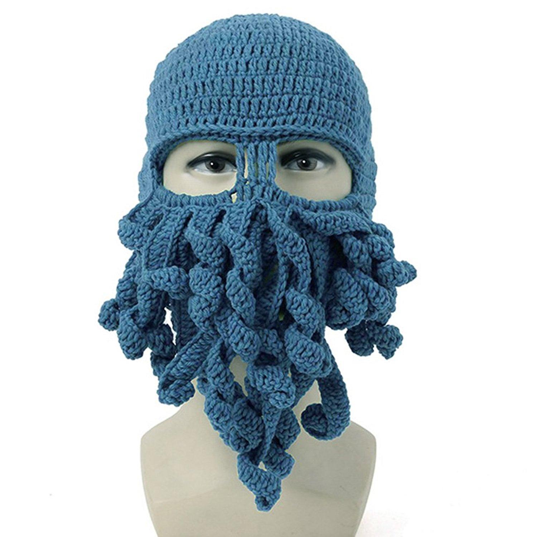 Neevas Unisex Octopus Winter Warm Knitted Wool Ski Face Mask Knit Hat Squid Cap Beanie