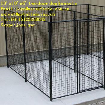 10x10x6 Two Doors Moduler Design Medium And Big Dog Kennels Buy
