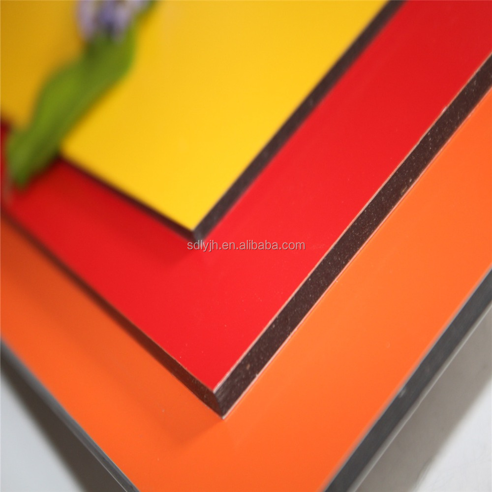 solid color acm acp aluminum composite material for interior &exterior decoration