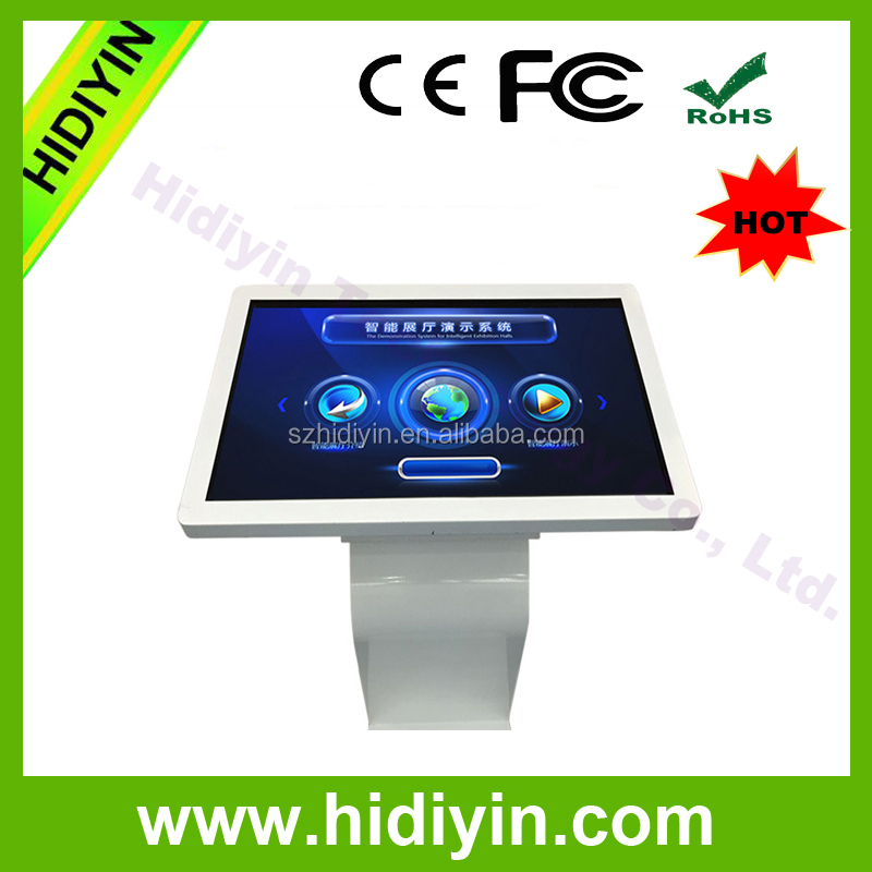 32inch Floor stand digital signage touch kiosk with K style base lcd digital signage