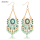 Sky Blue Water Drop Crystal Statement Dangle Earring Fancy Luxury Summer Style Big Drop Earrings For Women