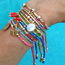 multi row layering Arm Candy Boho chic Charm Bracelets