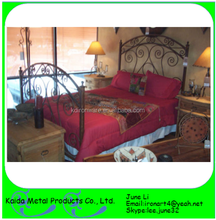 Comfortable Ornamental iron double bed design furniture