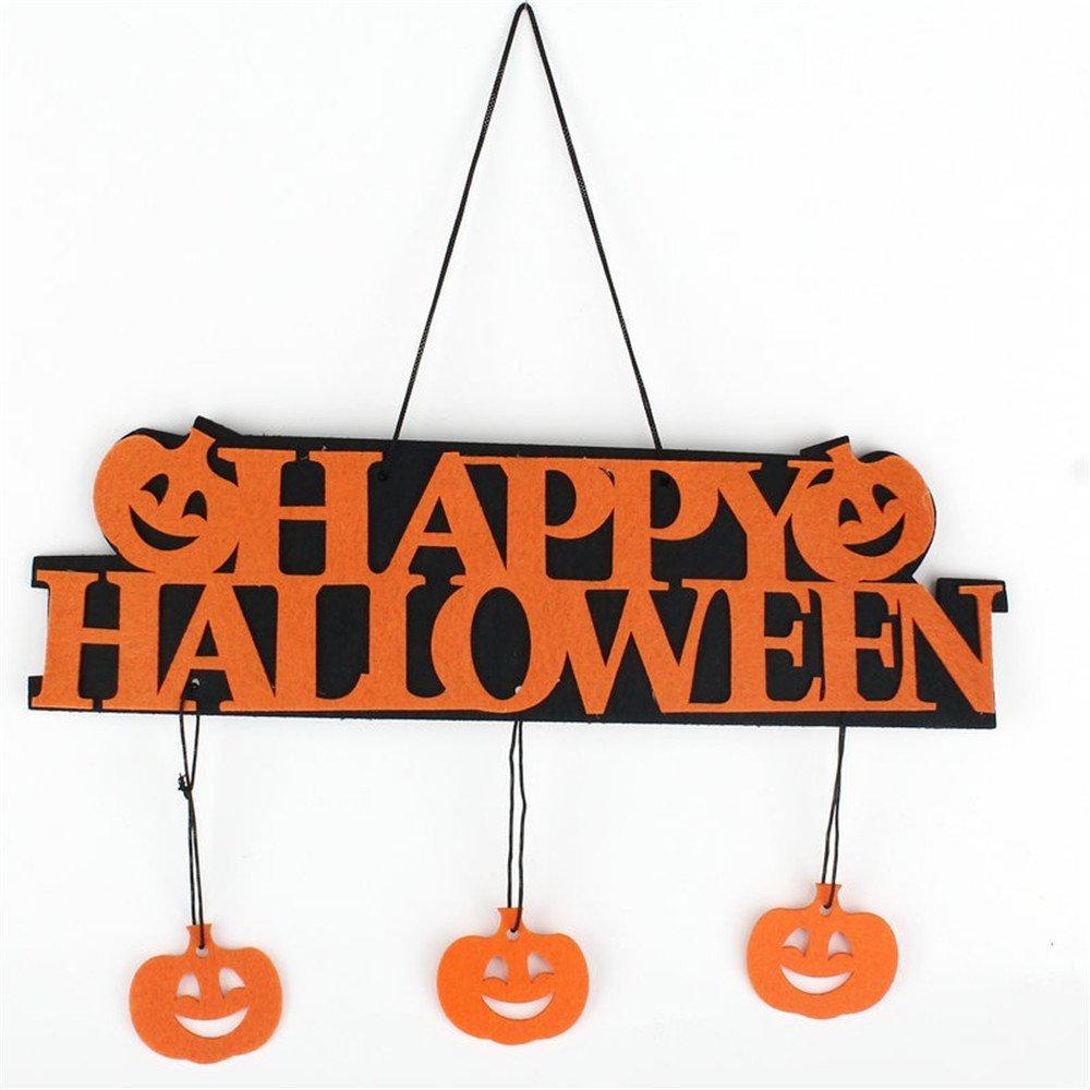 Halloween Decoration Happy Halloween Hanging Hang Tag Window Decoration Pumpkin Hanging Strips